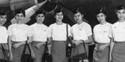 Philipins Airlines DC-6 flight attendants - 1953